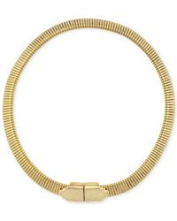 BCBGeneration | Metallic Retro Metals Goldtone Omega Necklace | Lyst