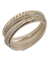 Swarovski | Metallic Slake Gold-Tone Crystallized Bracelet | Lyst