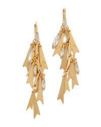 Elizabeth Cole - Metallic Golden Glow Earrings - Lyst