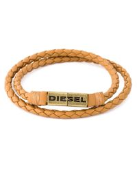 DIESEL | Natural Braided Bracelet for Men | Lyst