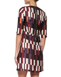 Rag & Bone - Blue Anne Printed Silk A-Line Dress - Lyst