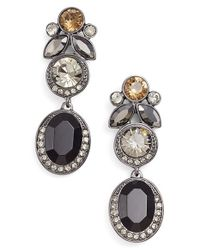 Givenchy | Black Jeweled Drop Earrings - Hematite/ Jet Mix | Lyst