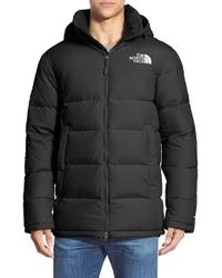 The North Face - Black 'fossil Ridge' Relaxed Fit Goose Down Parka for Men - Lyst