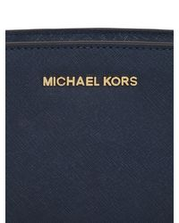 MICHAEL Michael Kors - Blue Mini Selma Saffiano Leather Shoulder Bag - Lyst