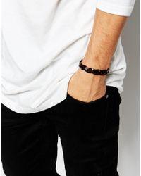Jack & Jones - Brown Leather Plaited Bracelet for Men - Lyst