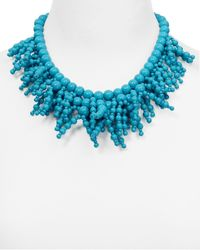 "kate spade new york - Blue Fringe Appeal Necklace, 17"" - Lyst"