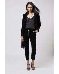 TOPSHOP - Black Premium Velvet Tux Jacket - Lyst
