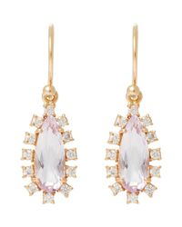 Irene Neuwirth - Metallic Diamond, Rose De France Amethyst & Rose Gold Drop Earrings Size Os - Lyst