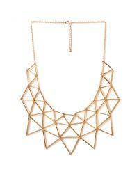 Forever 21 - Metallic Angular Geo Bib Necklace - Lyst