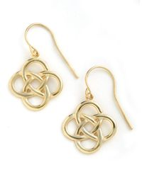 Lord & Taylor | Metallic 18 Kt Gold Over Sterling Silver Celtic Knot Drop Earrings | Lyst