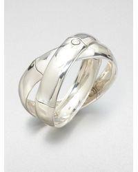 John Hardy | Metallic Sterling Silver Interlocking Bracelet | Lyst