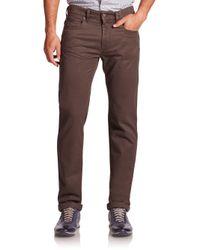 Saks Fifth Avenue - Brown Five-pocket Cotton Pants for Men - Lyst