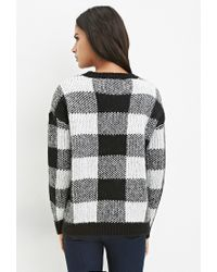 Forever 21 | Black Buffalo Plaid Sweater | Lyst
