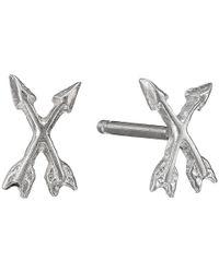 Dogeared - Metallic It's The Little Things Crossing Arrows Earrings - Lyst
