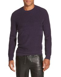 Vince | Purple Wool & Cashmere Crewneck Sweater for Men | Lyst