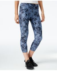 Calvin Klein | Blue Performance Printed Cropped Leggings | Lyst