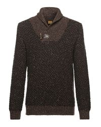 BOSS Orange | Brown 'ardon' | Virgin Wool Blend Shawl Collar Sweater for Men | Lyst
