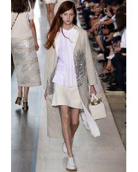 Tory Burch - Natural Cotton Miniskirt - Lyst