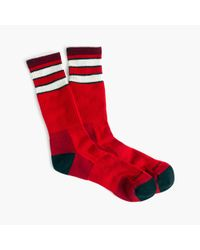 J.Crew | Red Darn Tough Vermont Double-striped Socks for Men | Lyst