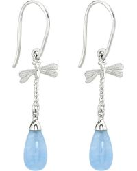 Theo Fennell | Sterling Silver And Blue Jade Earrings | Lyst