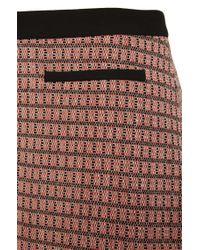 HUGO - Orange 'rinelle' | Cotton Blend A-line Skirt - Lyst