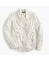 J.Crew | White Perfect Shirt In Foil Dot for Men | Lyst