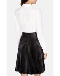 Karen Millen | White Soft Fluid Shirt | Lyst