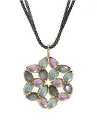 Elizabeth Showers | Black Kaleidoscope Mixed Doublet Pendant Necklace | Lyst