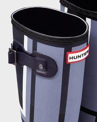 Hunter | Blue Women's Original Tall Tartan Rain Boots | Lyst
