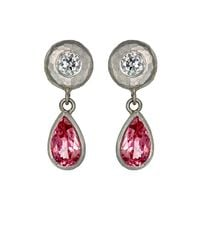 Malcolm Betts | Metallic Women's Gemstone Drop Earrings | Lyst