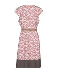 Peserico | Pink Knee-length Dress | Lyst