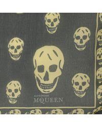 Alexander McQueen - Green Classic Silk Chiffon Skull Scarf for Men - Lyst