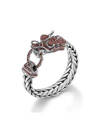 John Hardy | Red Legends Naga Dragon Head Bracelet for Men | Lyst