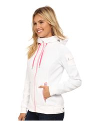 Spyder | White Ardent Full Zip Hoodie Mid Weight Core Sweater | Lyst