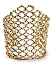 Alexis Bittar - Metallic Asymmetric Barbed Link Cuff - Lyst