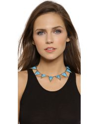 House of Harlow 1960 - Blue Triangle Theorem Collar Necklace - Turquoise - Lyst