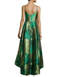 Black Halo - Green Sleeveless Floral Ball Gown - Lyst