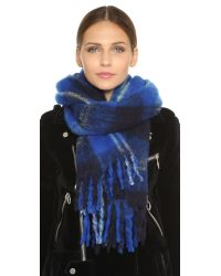 Marc By Marc Jacobs - Blue Blanket Plaid Scarf - Lyst