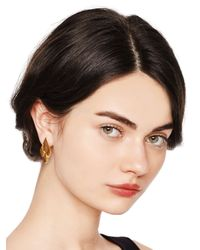 kate spade new york - Metallic Fancy Flock Earrings - Lyst
