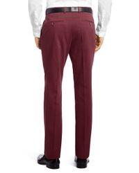 BOSS - 't-gabin' | Slim Fit, Italian Cotton Textured Dress Pants for Men - Lyst