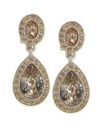 Carolee - Metallic The Bridget Crystal Double Drop Earrings - Lyst