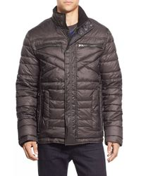 Bugatchi | Blue Quilted Nylon Jacket for Men | Lyst