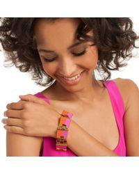 Trina Turk - Purple Color Blocked Flex Bracelet - Lyst