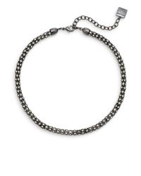 Anne Klein | Gray Fair Lady Tube Necklace | Lyst