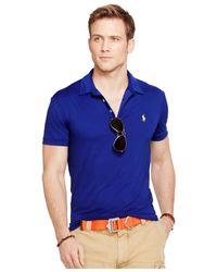 Polo Ralph Lauren | Blue Performance Polo Shirt for Men | Lyst