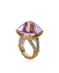 Nicholas Varney - Purple Amethyst and Diamond Sugarloaf Ring - Lyst
