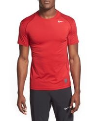 Nike | Gray 'pro Cool Compression' Fitted Dri-fit T-shirt for Men | Lyst