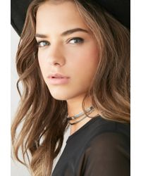 Forever 21 - Metallic Cutout Choker You've Been Added To The Waitlist - Lyst