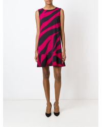 Boutique Moschino - Pink Zebra Print Dress - Lyst