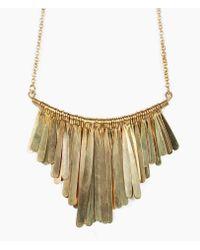Soko | Metallic Brass Fringe Necklace | Lyst